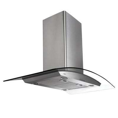 Brezza 30 in. Convertible Island Mount Range Hood with Light in Stainless Steel