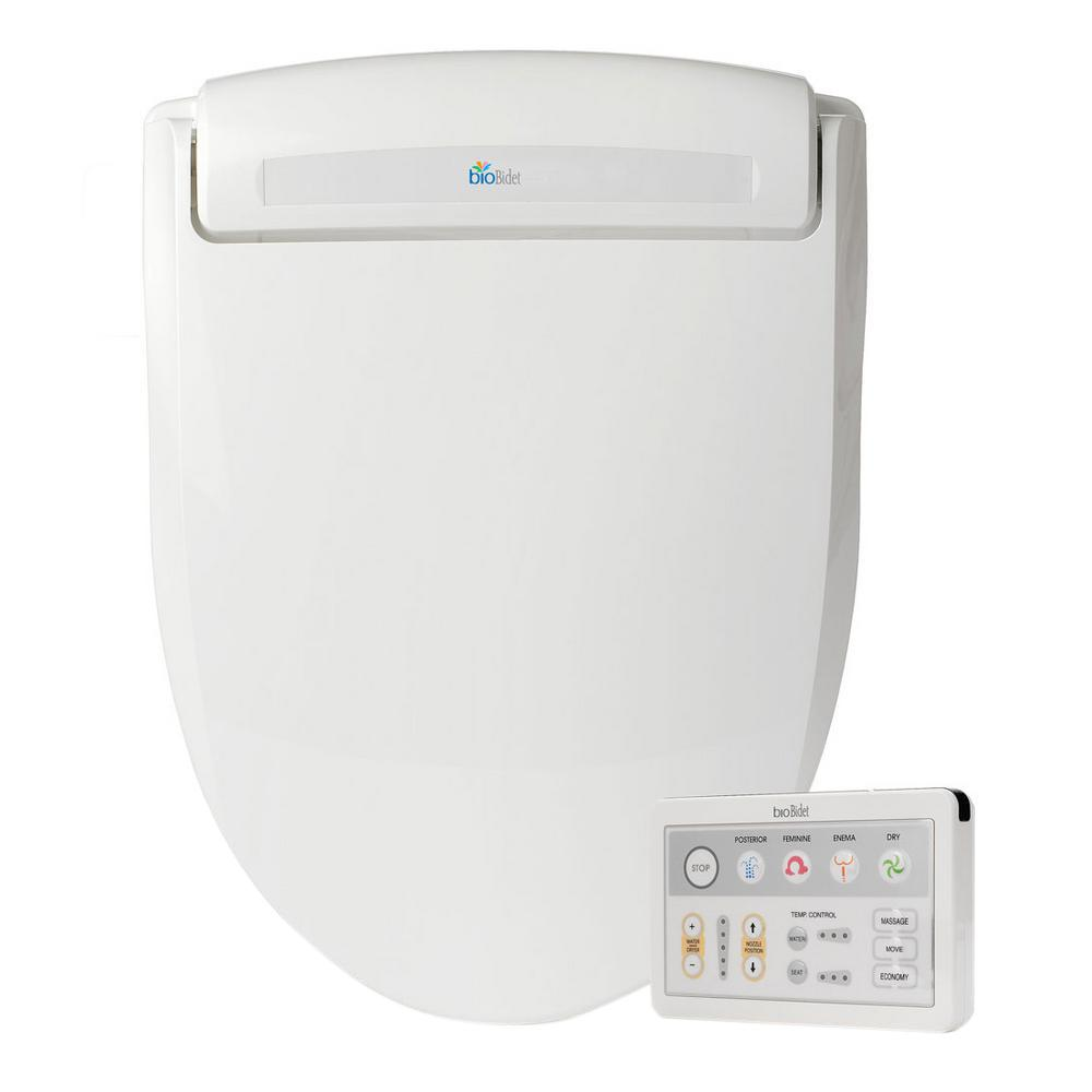 bioBidet Supreme Electric Bidet Seat for Elongated Toilets in White