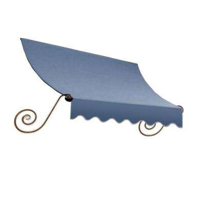 3 ft. Charleston Window Awning (44 in. H x 24 in. D) in Dusty Blue