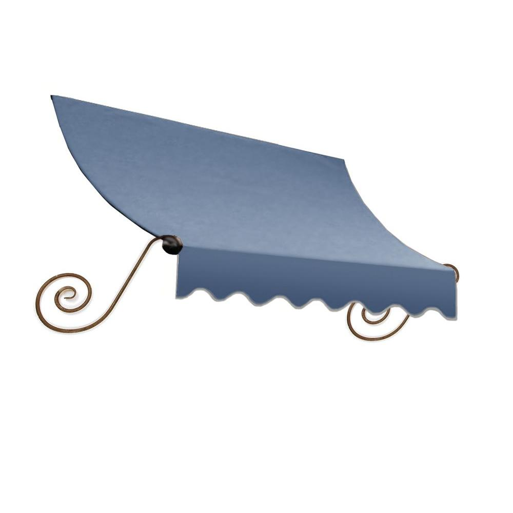 AWNTECH 4 ft. Charleston Window/Entry Awning (18 in. H x 36 in. D) in Dusty Blue