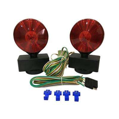 Magnetic Towing Light Kit (Dual Sided for RV, Boat, Trailer and More DOT Approved)