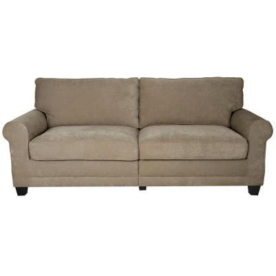 RTA Copenhagen 73 in. Vanity/Espresso Polyester 2-Seater Sofa with Removable Cushions