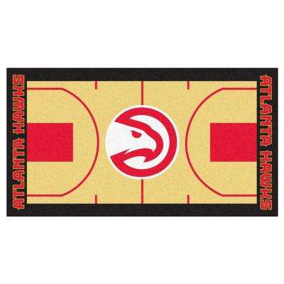 NBA - Atlanta Hawks Tan 2 ft. x 3 ft. 8 in. Indoor Basketball Court Runner