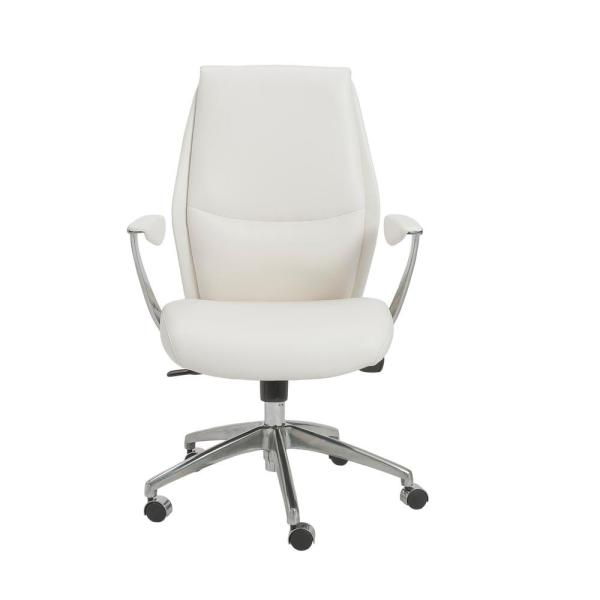 Crosby White Low Back Office Chair