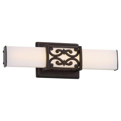 Dark Brushed Bronze LED Bath Vanity Light