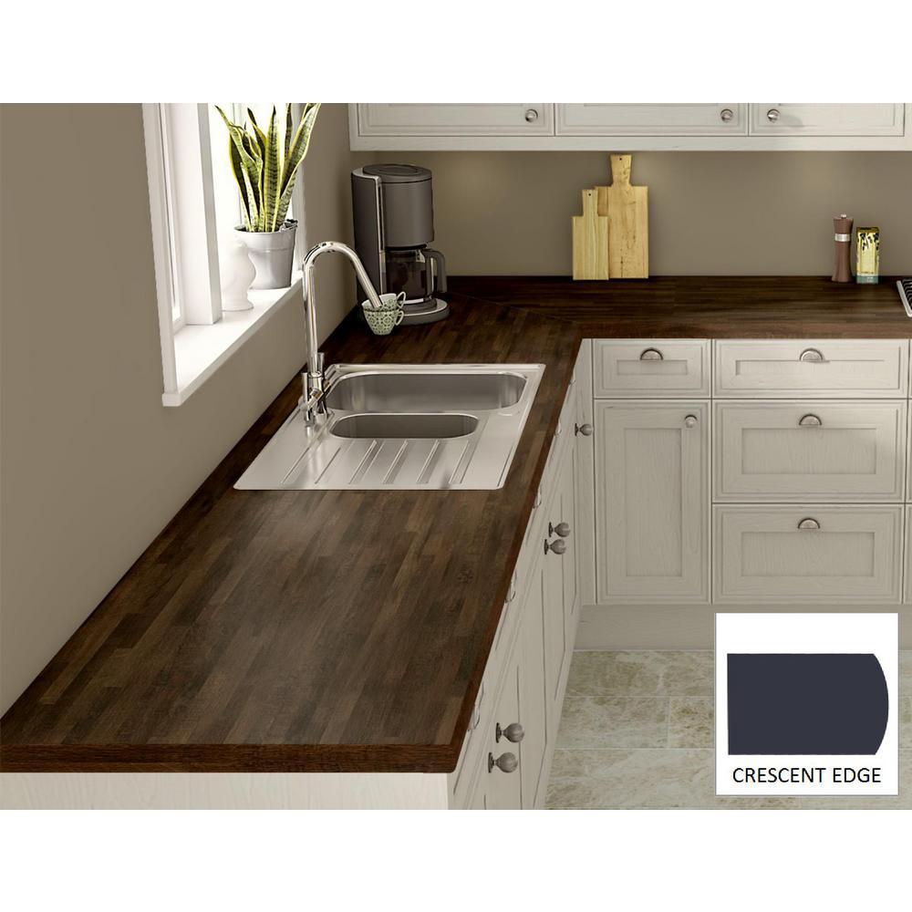 Home Depot Kitchen Counters: Wilsonart Old Mill Oak Laminate Custom Crescent Edge-C-F