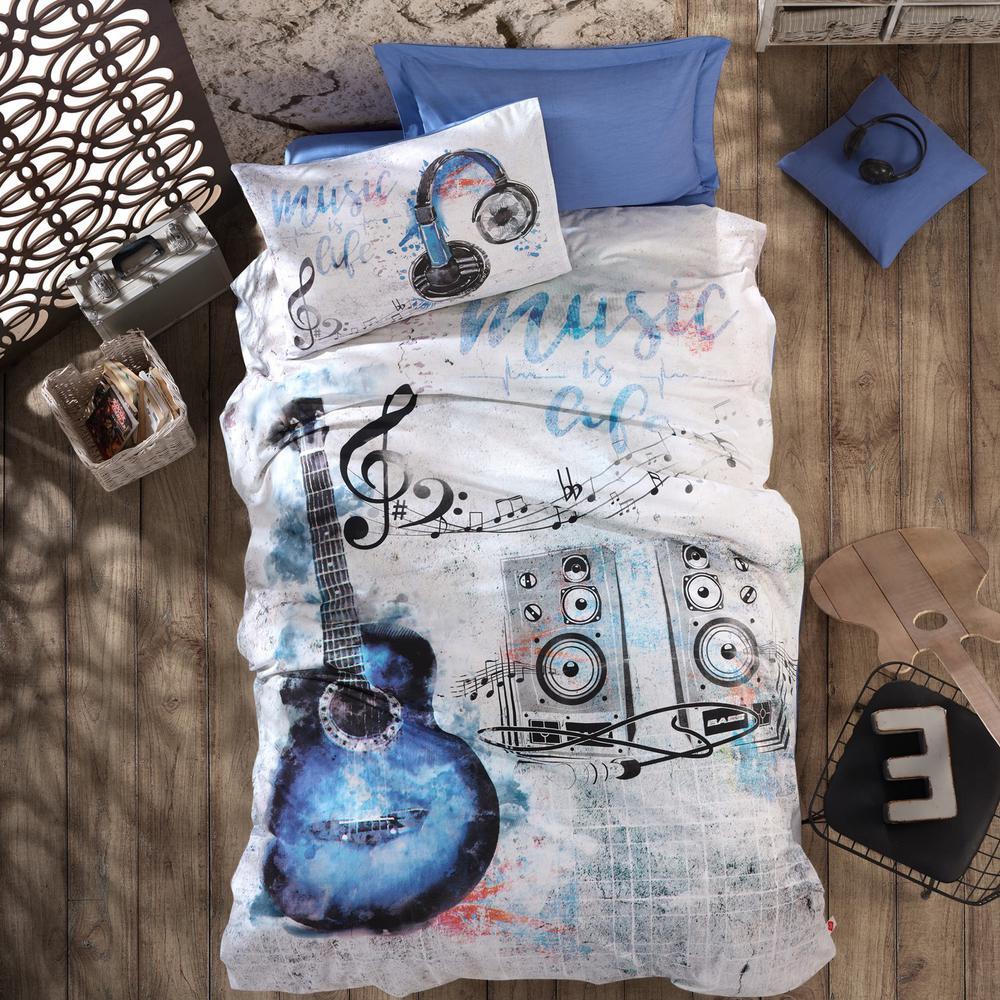 Buble Gum Unicorn Duvet Cover Set, Mint, Twin Size Duvet Cover, 1-Duvet Cover, 1-Fitted Sheet and 2-Pillowcases