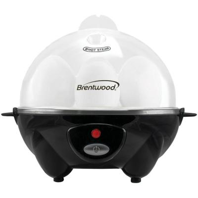 7-Egg Black Electric Egg Cooker with Auto Shutoff