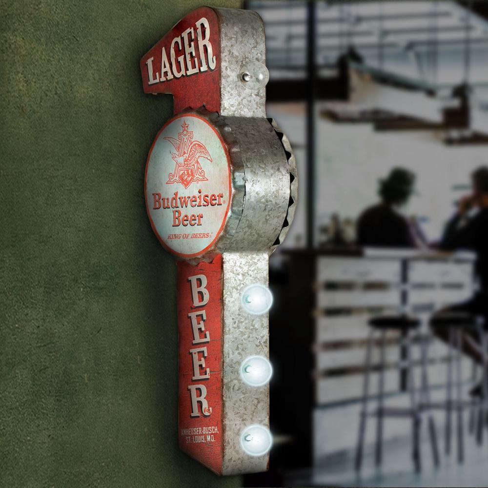 "Huge 13.5/"" Vintage Retro Metal Bottle Top Sign/'s American Wall Decor Distressed"