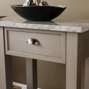 Internet #302841030. +5. Southern Enterprises Bella Warm Gray Faux Marble  Console Table