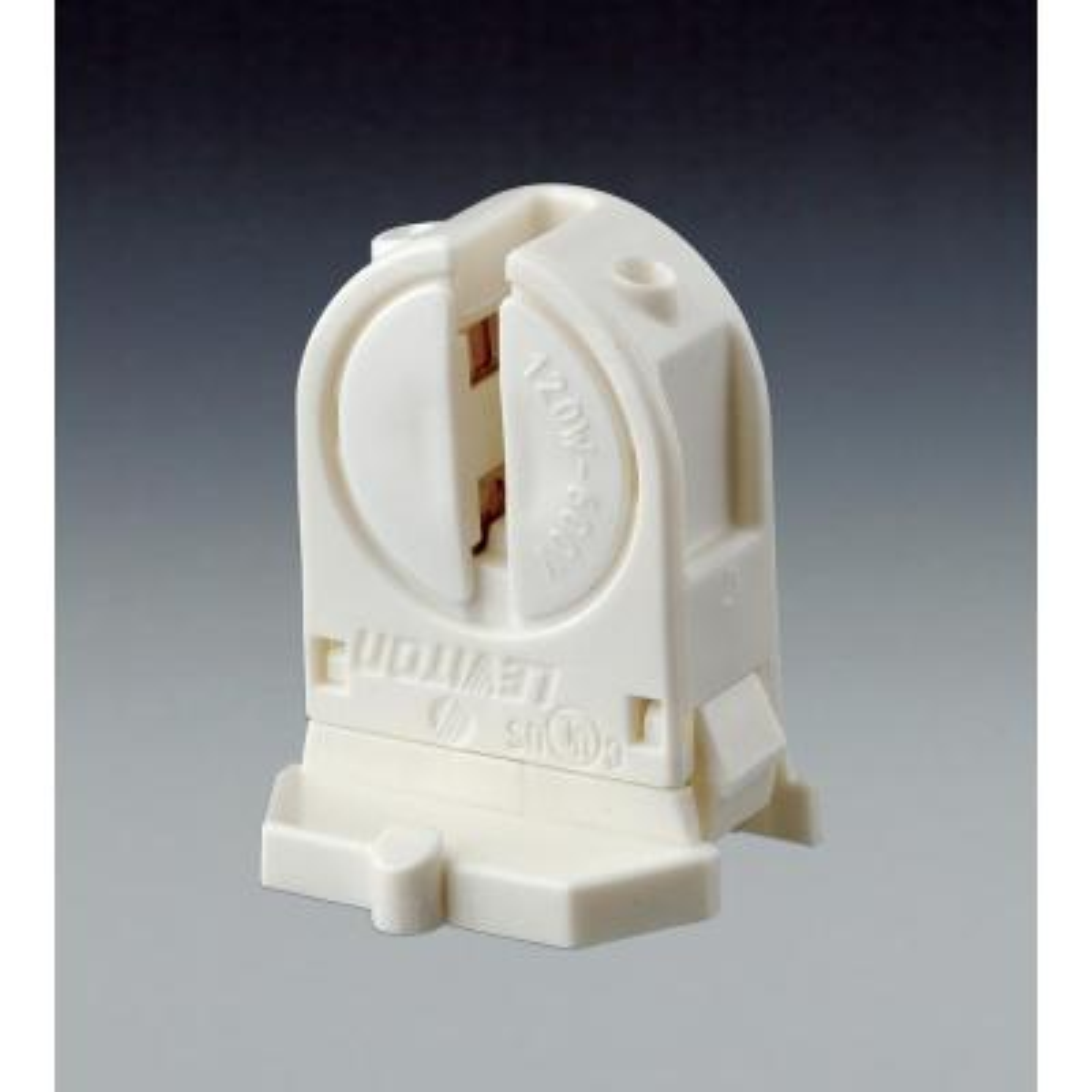 120W Low Profile Miniature Base T5 Bi Pin Lamp Center Snap-In/Slide-On Fluorescent Lampholder, White
