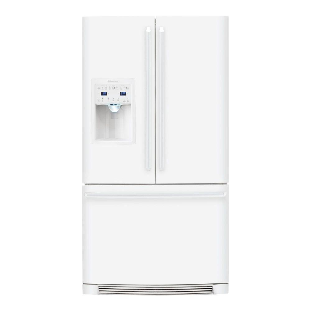 Electrolux IQ-Touch 22.6 cu. ft. French Door Refrigerator in White, Counter Depth