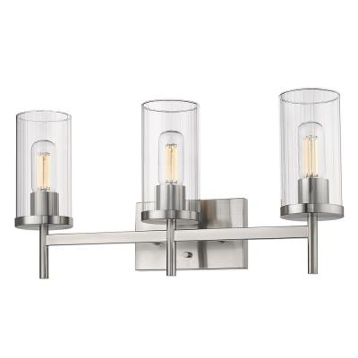 Winslett 8 in. 3-Light Pewter Vanity Light