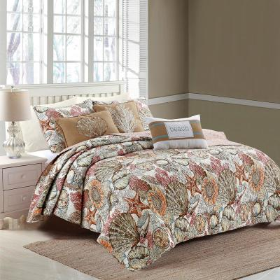 Brushed Ashore King Quilt Set
