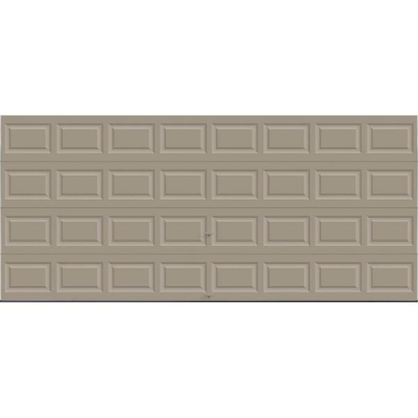 Classic Collection 16 ft. x 7 ft. 18.4 R-Value Intellicore Insulated Solid Sandtone Garage Door
