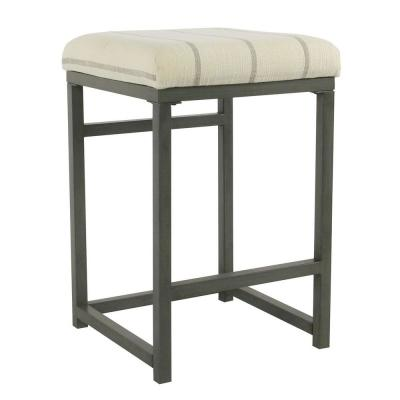 Open Back 24 in. Wicker Grey  Bar Stool