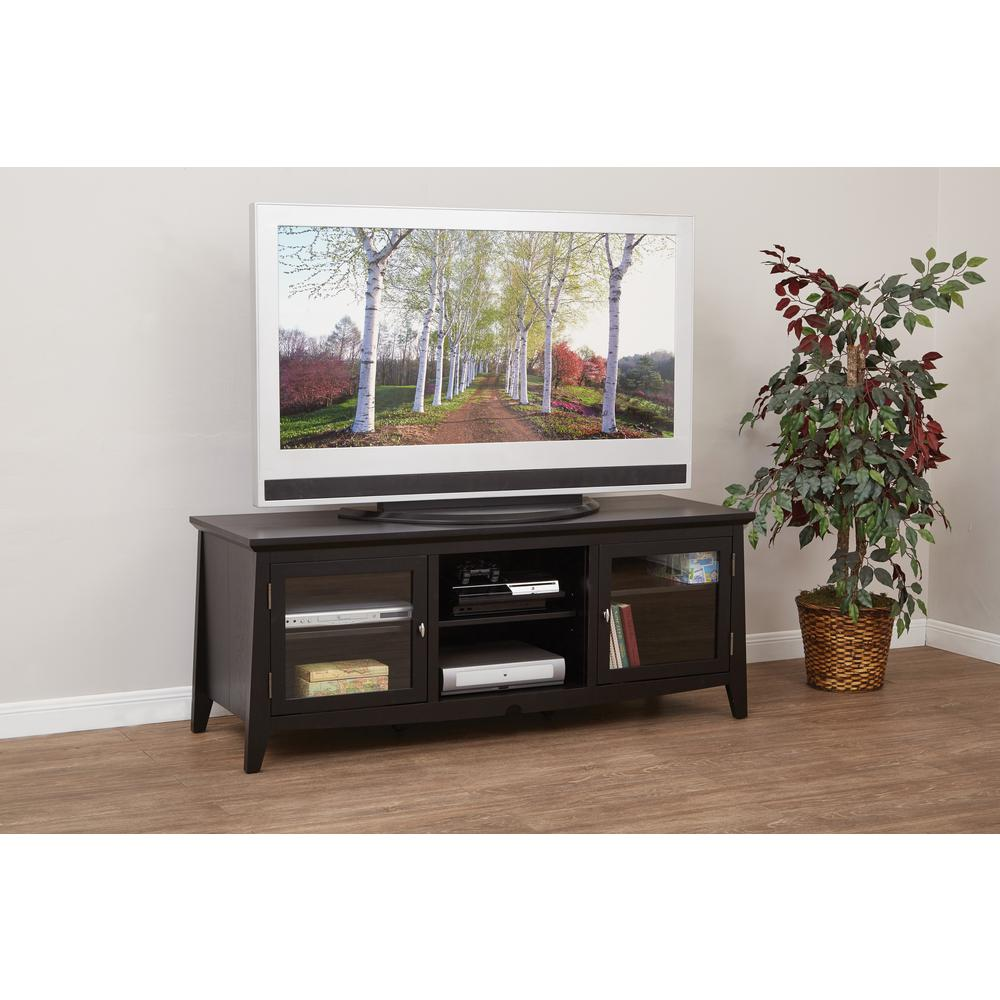 Ospdesigns Black Entertainment Center Tv0860fbk The Home