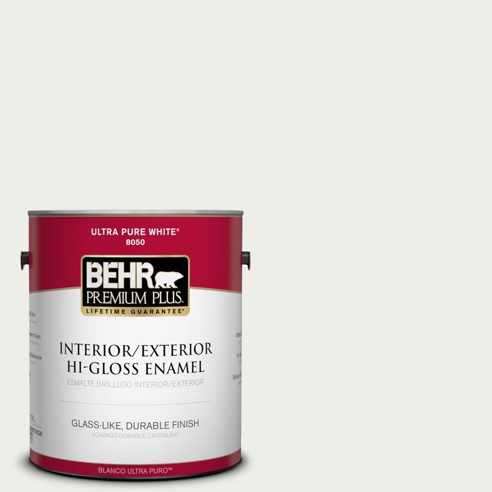 BEHR Premium Plus 1-gal. #410E-1 Frostwork Hi-Gloss Enamel Interior/Exterior Paint