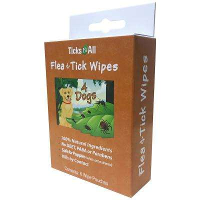 All Natural Flea and Tick Wipes 4 Dogs (6-Count Box)