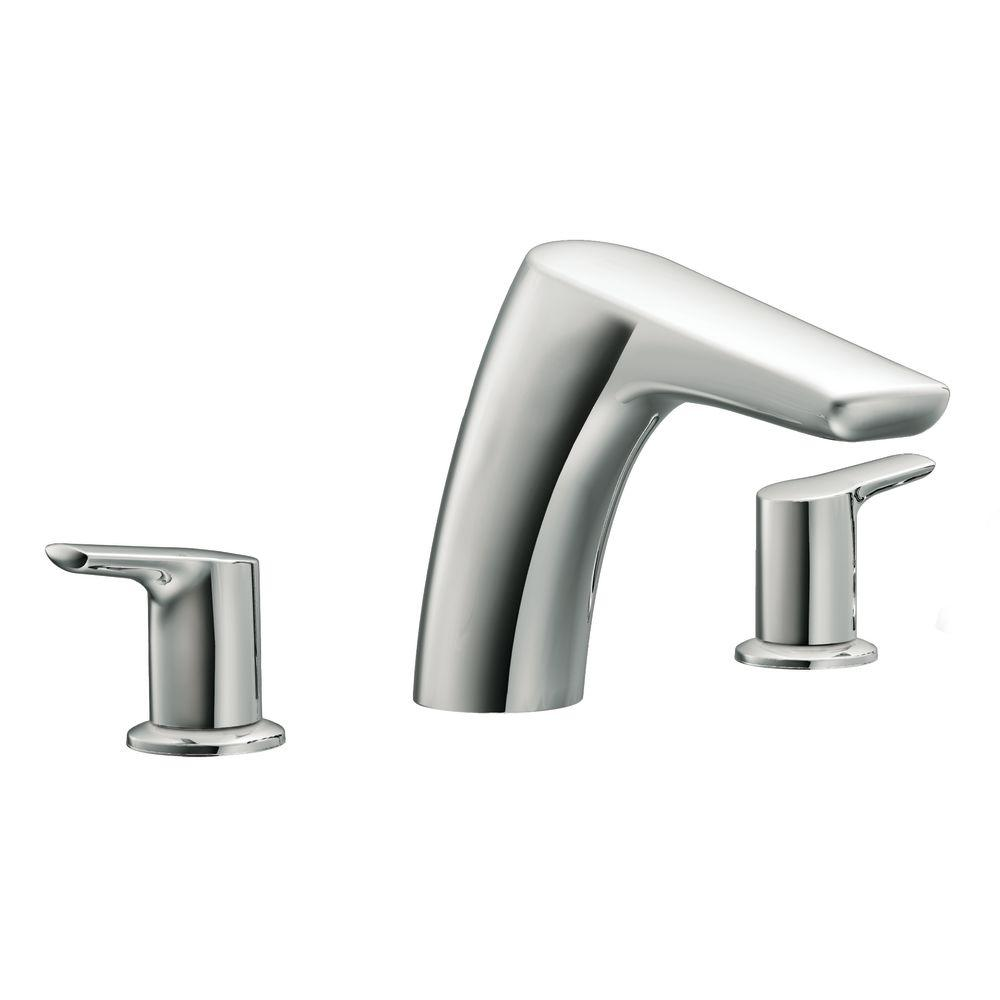 replace roman tub faucet. MOEN Method 2 Handle Low Arc Roman Tub Faucet in Chrome  Valve Not Included