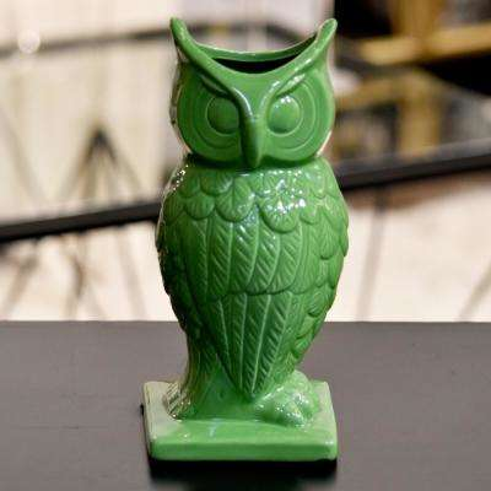 Green Gloss Ceramic Decorative Vase