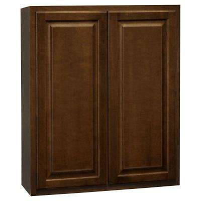 Hampton Assembled 30x36x12 in. Wall Kitchen Cabinet in Cognac