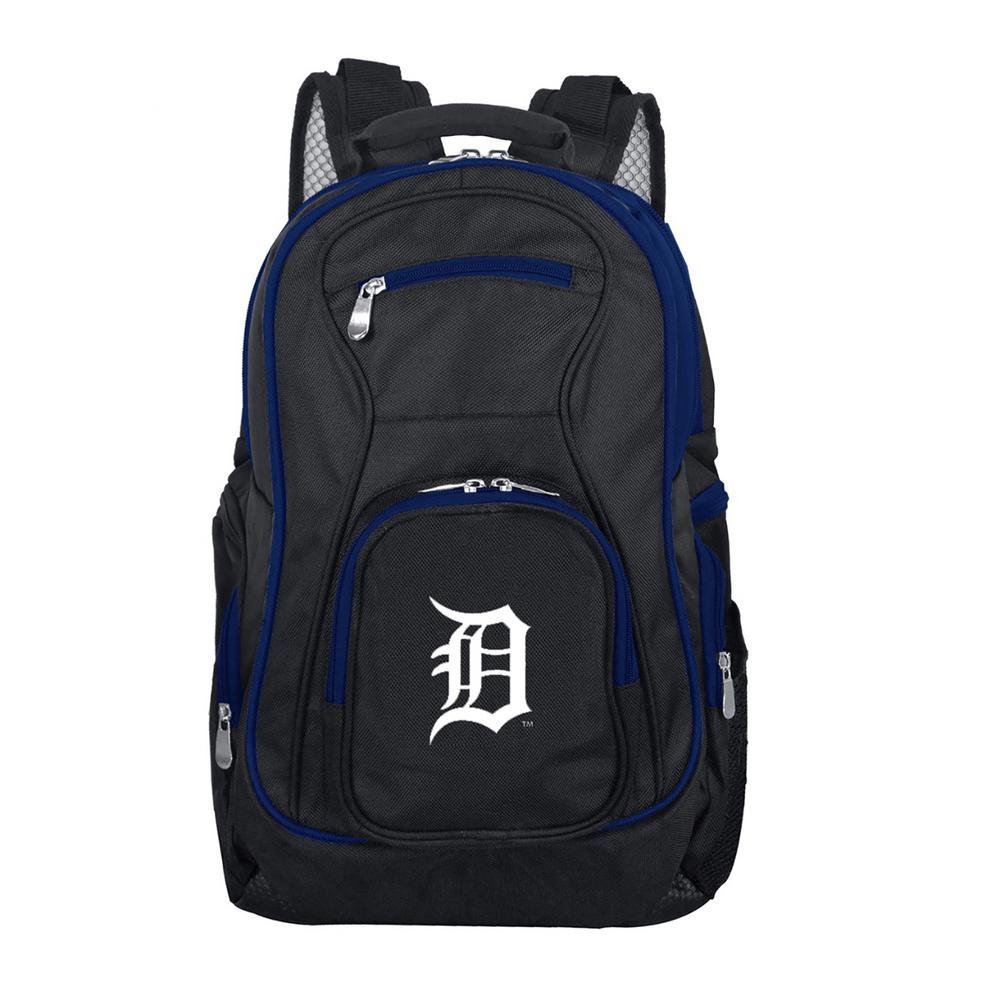 Denco MLB Detroit Tigers 19 in. Black Trim Color Laptop Backpack