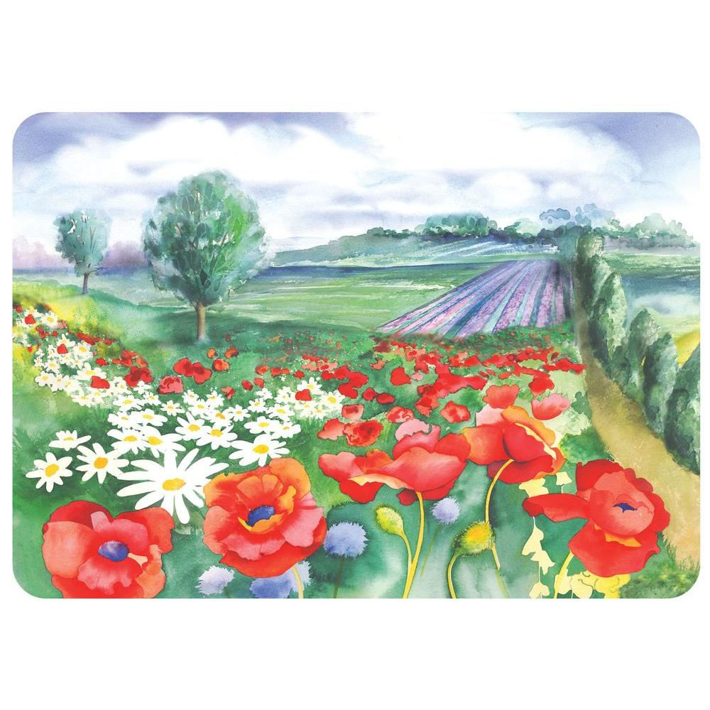 Bungalow Flooring Watercolor Poppies 22 In. X 31 In. Polyester Surface  Mat 20508022231   The Home Depot