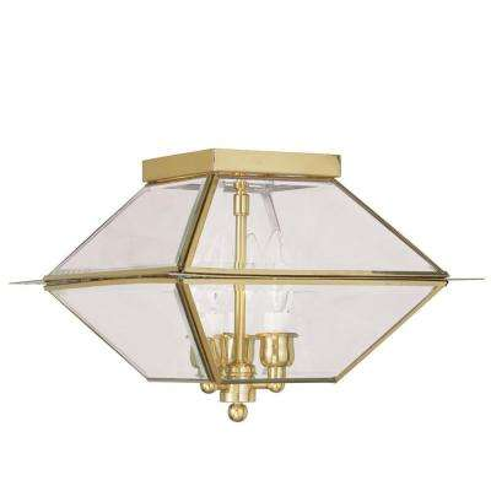 Providence 3-Light Polished Brass Outdoor Incandescent Hanging Lantern