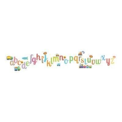 19.7 in. x 12.2 in. Alphabet Wall Decal
