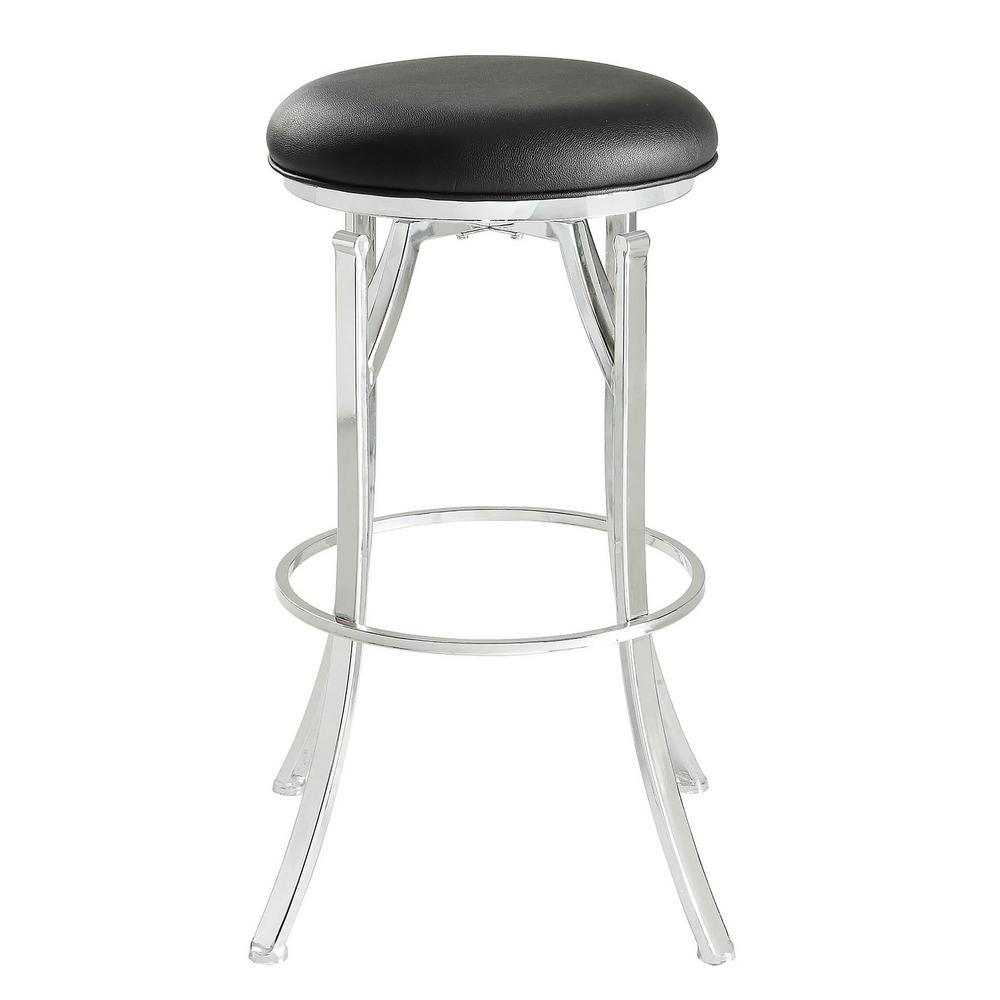 Carolina Cottage Rainier 30 In Blackchrome Swivel Bar Stool