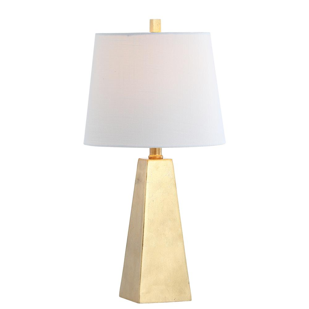 Alexis 20.5 in. Gold Leaf Resin LED Table Lamp