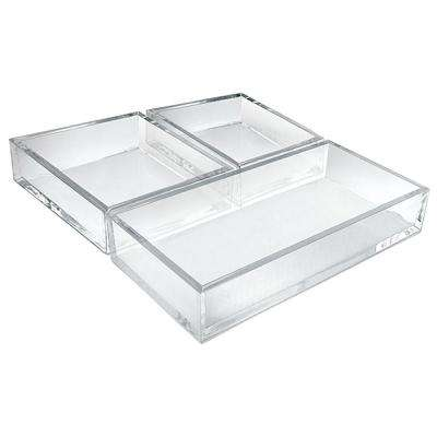 Deluxe 3-Piece Clear Styrene Tray Set