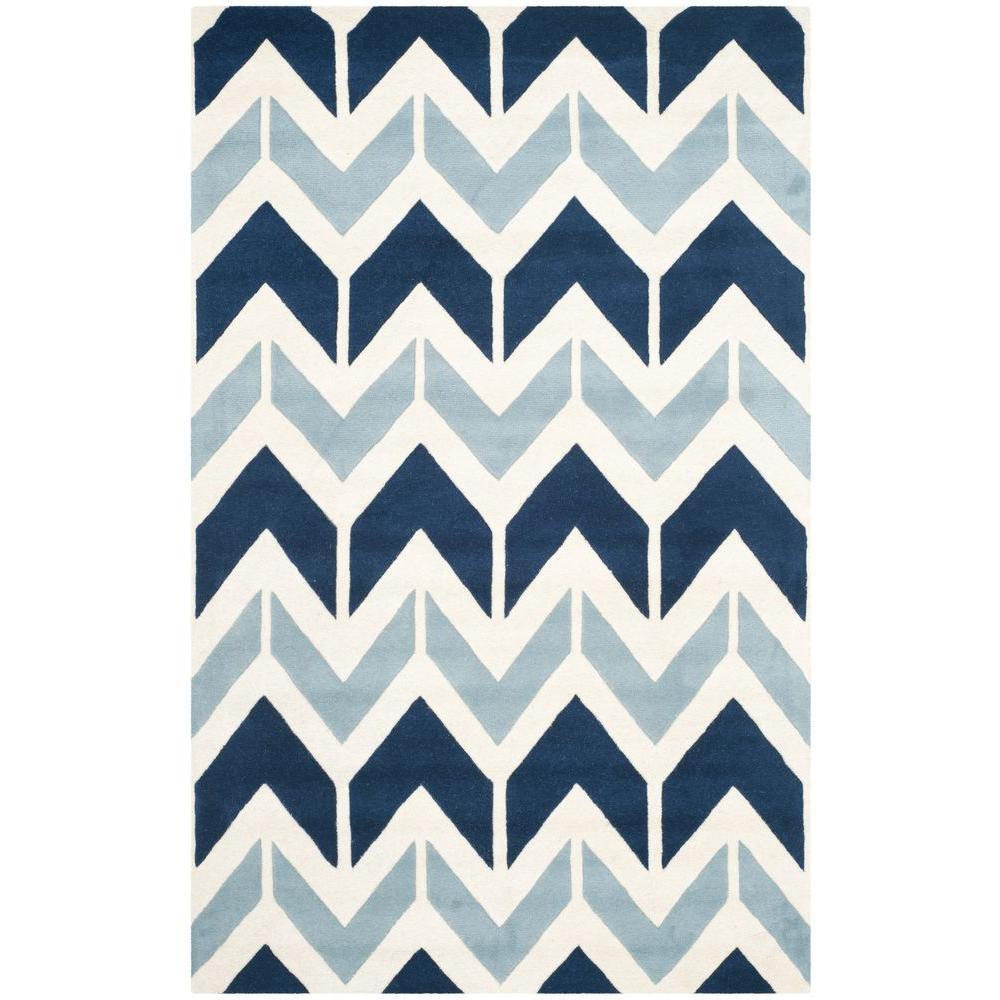 Safavieh Chatham Dark Blue/Light Blue 4 ft. x 6 ft. Area Rug