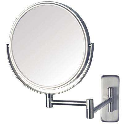 8 in. Dia Wall Mounted Mirror in Nickel