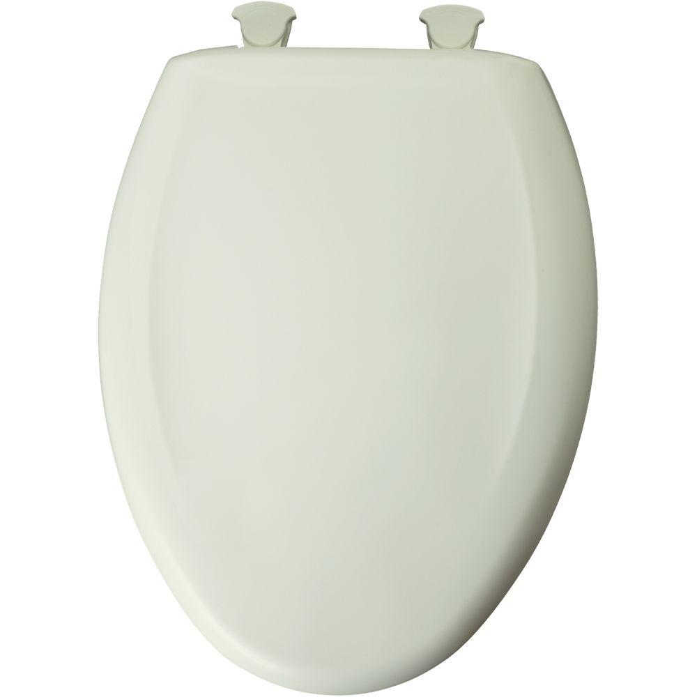 Church Slow Close STA-TITE Elongated Closed Front Toilet Seat in Biscuit