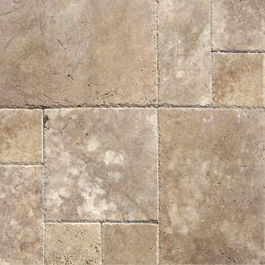 MS International Mediterranean Walnut Pattern Honed-Unfilled-Chipped  Travertine Floor and Wall Tile (5 Kits / 80 sq. ft. /  pallet)-TTWAL-PAT-HUFC - The Home ...