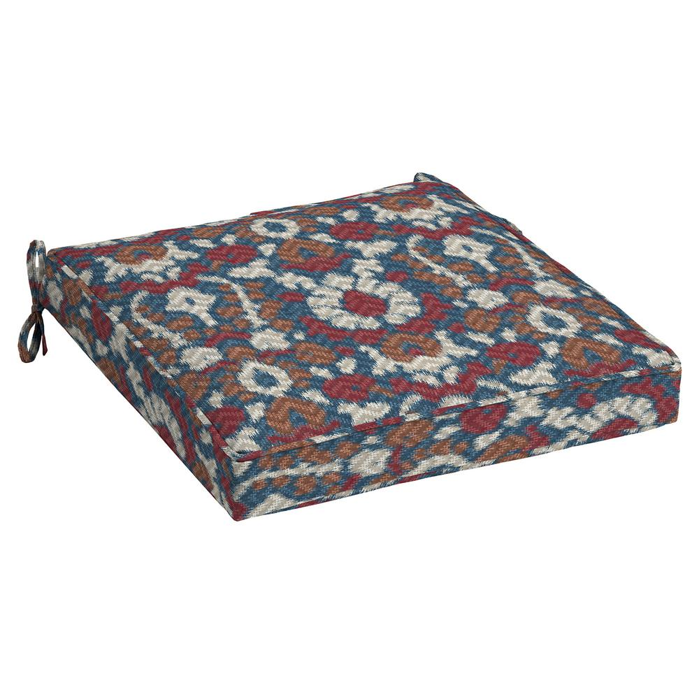 Arden Selections DriWeave Phyllis Ikat Outdoor Square Seat Cushion