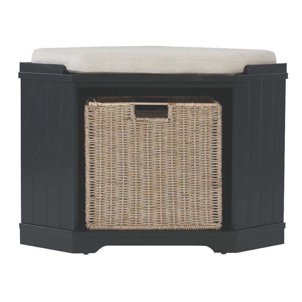 Home Decorators Collection Whitaker Black Storage Bench