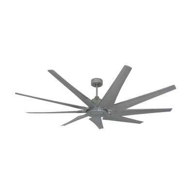 Liberator 72 in. Indoor/Outdoor Brushed Nickel Ceiling Fan with Remote Control