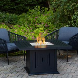 Real Flame Cavalier 43 In Aluminum Propane Fire Pit Table