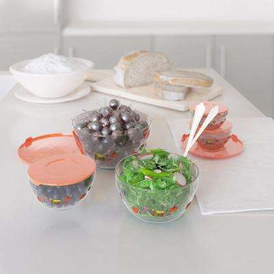 20-Piece Glass Bowl Container Set with Lids