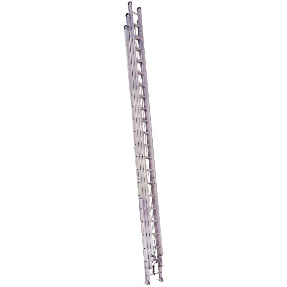 Werner 60 ft. Aluminum Round Rung Extension Ladder with 250 lb. Load Capacity Type I Duty Rating