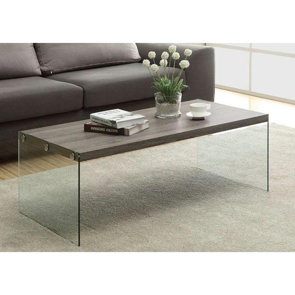 Ordinaire Monarch Specialties Dark Taupe Coffee Table