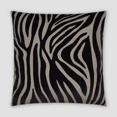 Kingdom Black Feather Down 18 in. x 18 in. Standard Decorative Throw Pillow