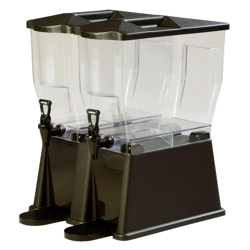 3 gal. Double Reservoir Premium Trim Polycarbonate Beverage Dispenser in Black
