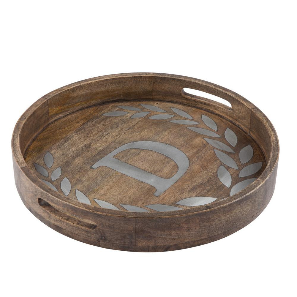 "20 in. D Mango Wood Round Tray ""D"""