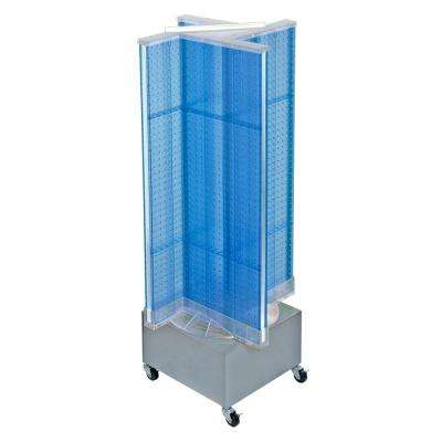 44 in. H x 13.5 in. W Pegboard on Wheeled Base in Blue