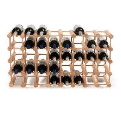 40-Bottle Natural Floor Wine Rack