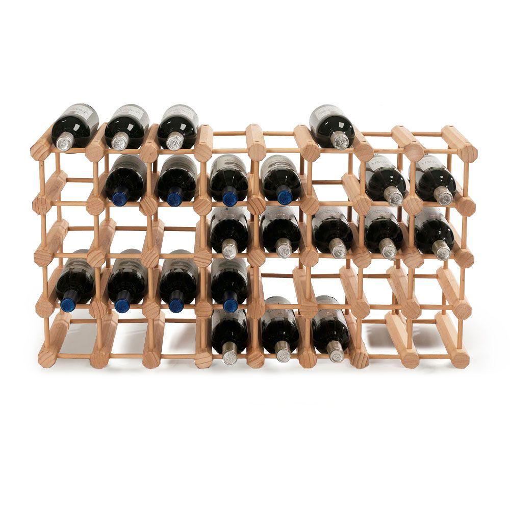 40-Bottle Natural Floor Wine Rack